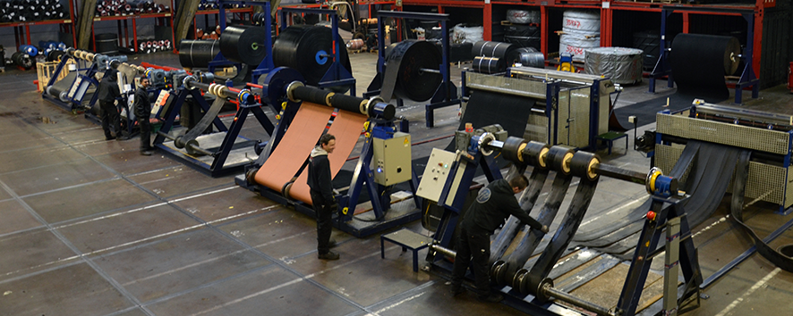 T-Rex Logistics | Conveyor Belt Slitting & Winding Lines